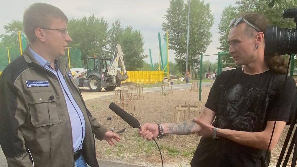 Корреспонденты Телекомпании ТВ-ИН Магнитогорск посетили одну из строительных площадок «ИНТЕКС»